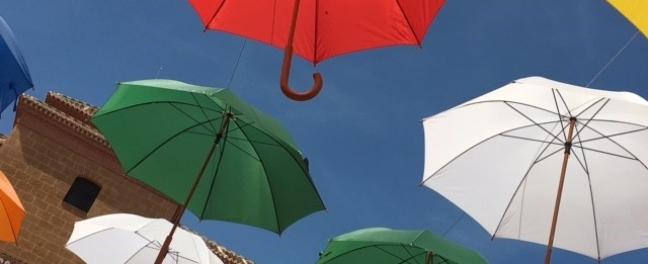 Torrox Pueblo Paragua Umbrellas Andalucia Diary