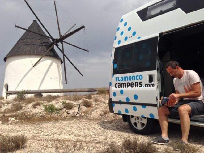 Andrew Forbes Glamping on wheels with Papa from Flamenco Campers