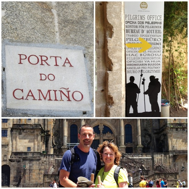 Arriving in Santiago on Camino