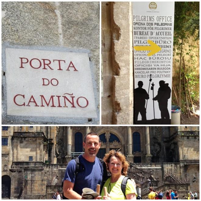Arriving in Santiago on Camino