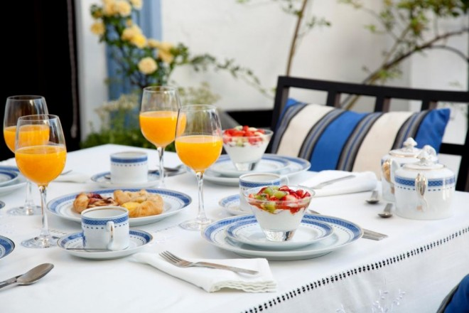 Breakfast on the terrace La Casa Noble Aracena