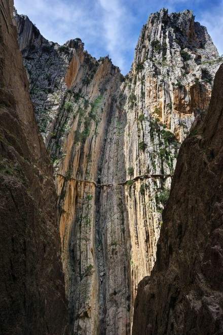 Caminito del Rey before restoration
