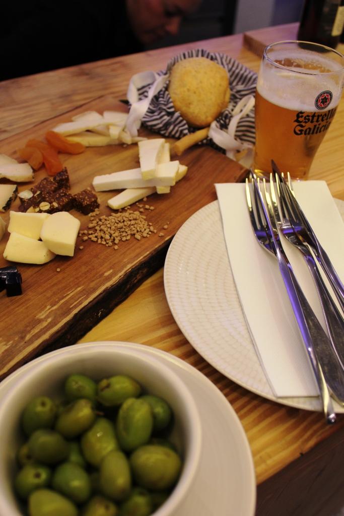 Delicious Cheese board in Blanco Enea