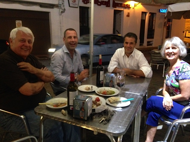 Enjoying Tapas at Rincon de Juan, Aracena