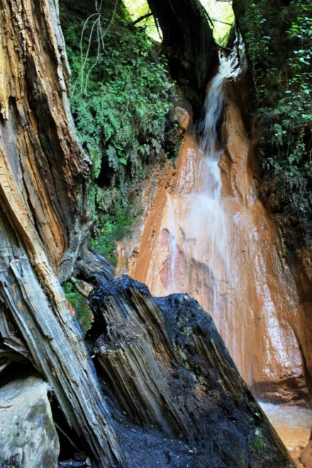 Fuente Agra, iron rich spring in Alpujarras Andalucia