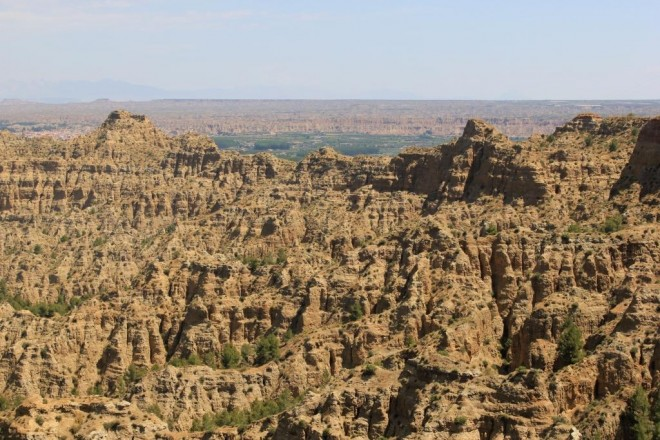 Geological formations, Badlands, Guadix, Andalucia