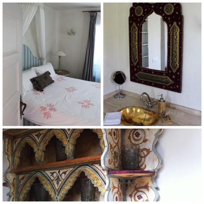 Guestroom and bathroom Casa Mosaica