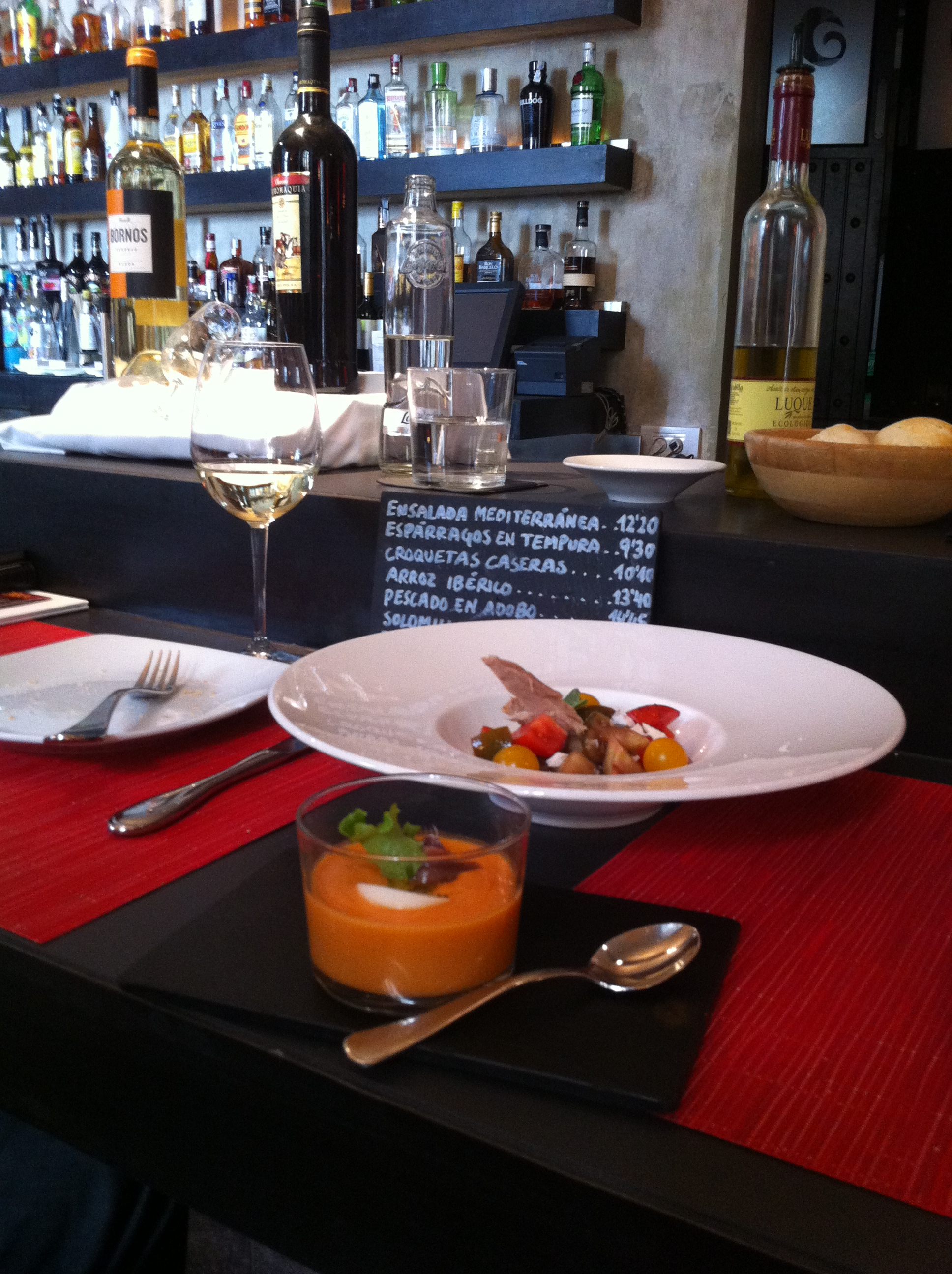 Salmorejo and tapas at the Palacio de Bailio Cordoba Andrew Forbes