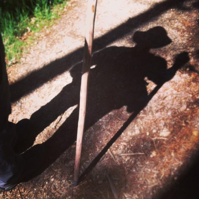 My shadow, on the Camino de Santiago