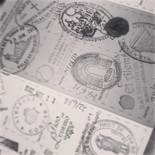 Snapshot of my Pilgrim's Passport