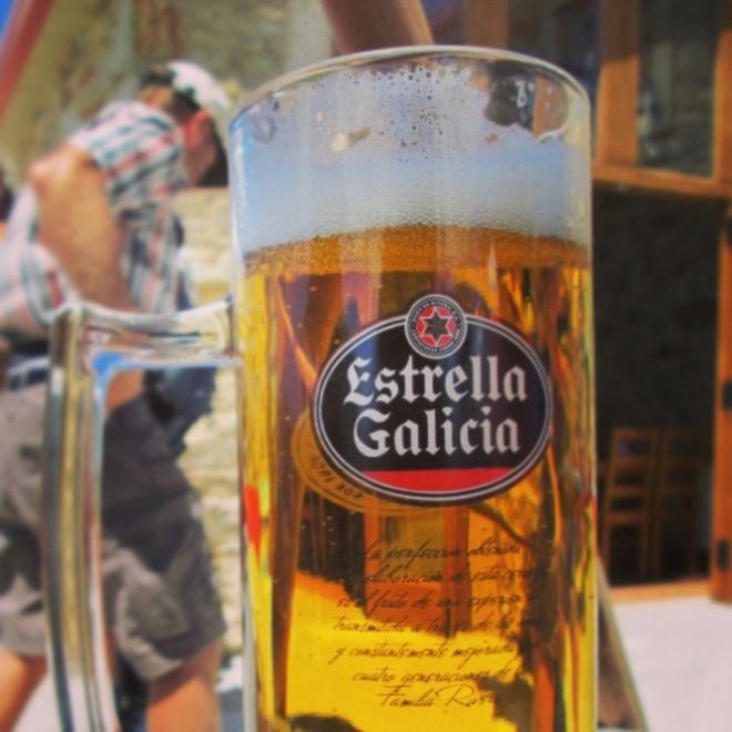 Estrella Galicia - my treat at my 12 noon break