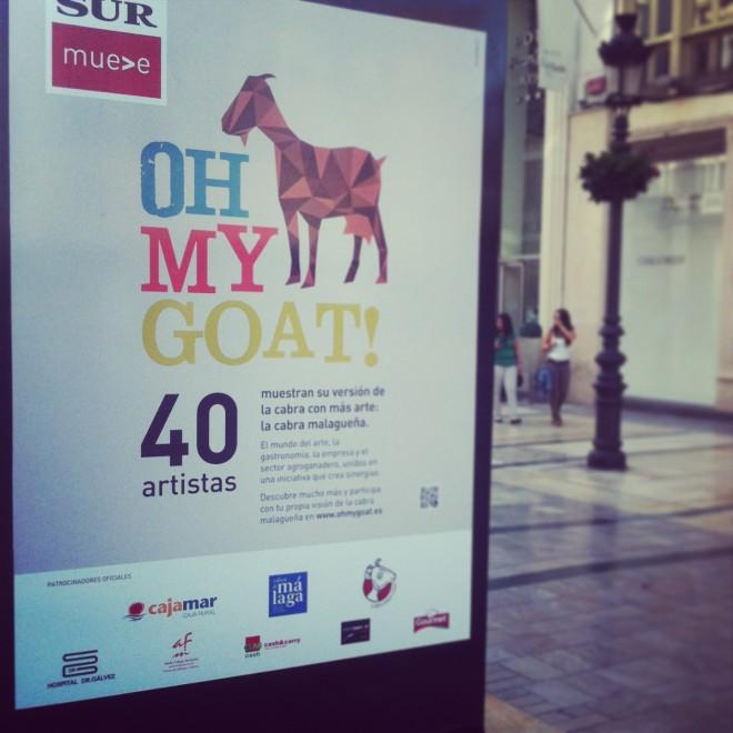 Oh My Goat Urban Street Art Malaga