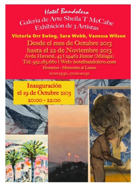 Victoria Orr-Ewing, Sara Webb & Vanessa Wilson Juzcar Art Exhibition until 22 Nov 2013