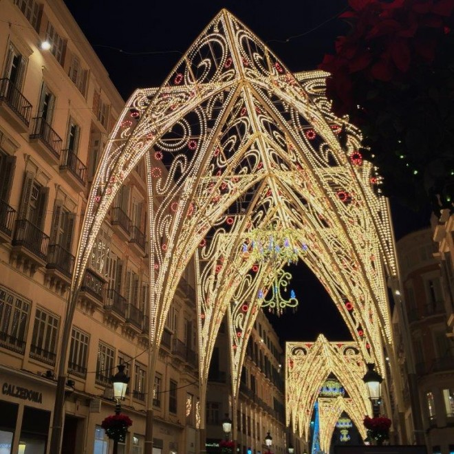 Malaga City Capital Chritmas Lights by Andrew Forbes (4)