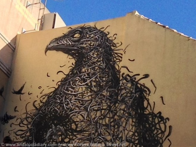 Malaga Urban Street Art Stencil Art Graffiti street installations andalucia diary andrew forbes (1)