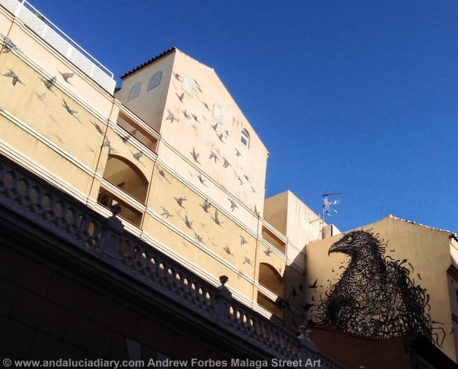 Malaga Urban Street Art Stencil Art Graffiti street installations andalucia diary andrew forbes (2)
