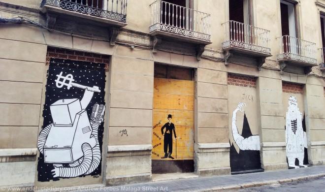 Malaga Urban Street Art Stencil Art Graffiti street installations andalucia diary andrew forbes (5)