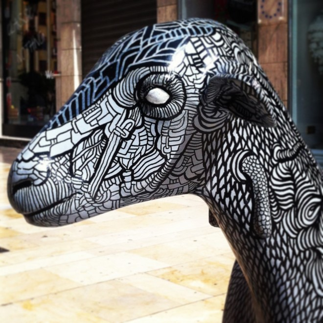 Oh My Goat Andrew Forbes picture of painted goat in Malaga