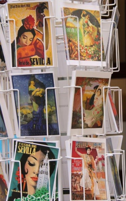 Postcards of 1950s Seville Feria posters www.andrewforbes.com