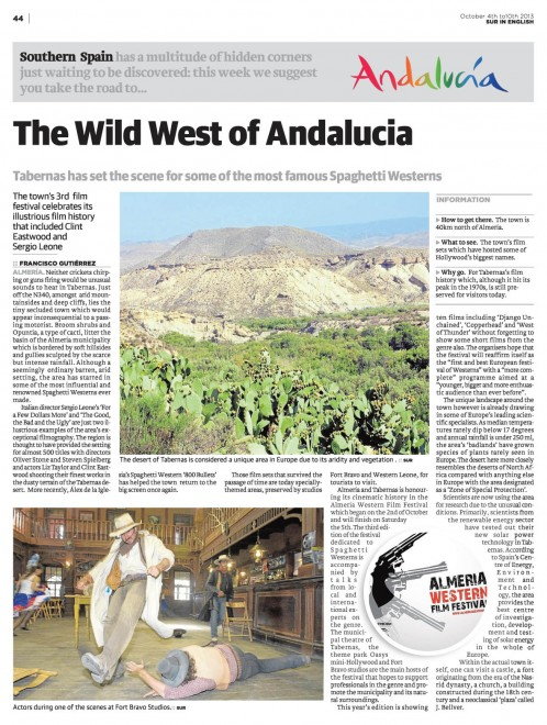 The Wild West of Andalucia SUR in English 4 Oct www.surinenglish.com