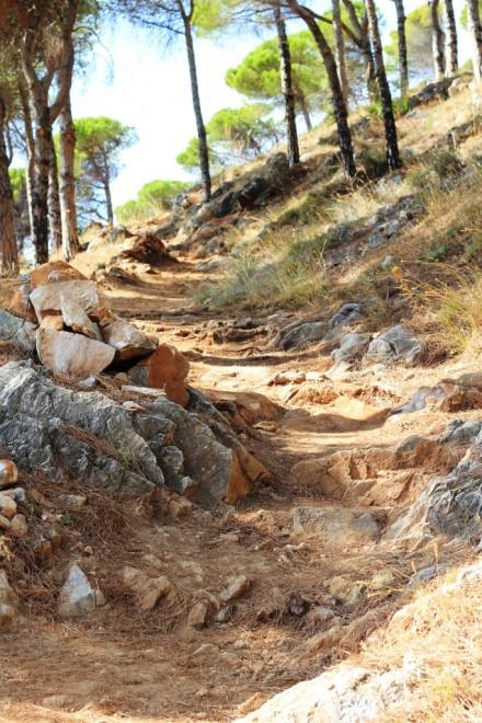 The hiking trail north of Mijas Pueblo