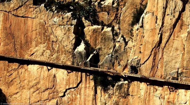 climber on el chorro lake district malaga