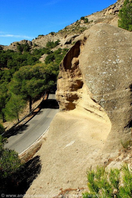 geological formations el chorro malaga andalucia diary