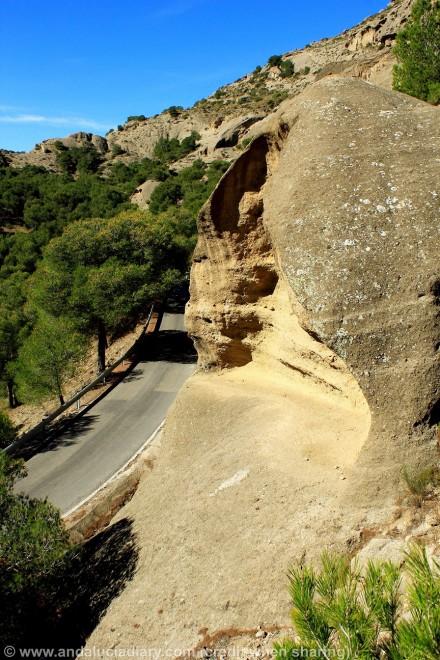 geological formations el chorro malaga andalucia diary