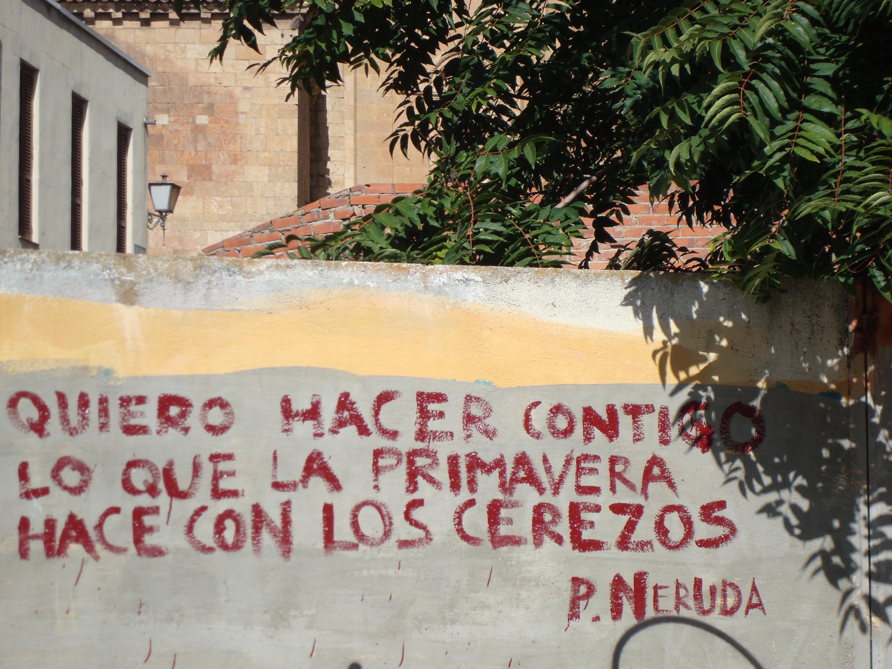 Poetic grafiti salamanca www.andrewforbes.com