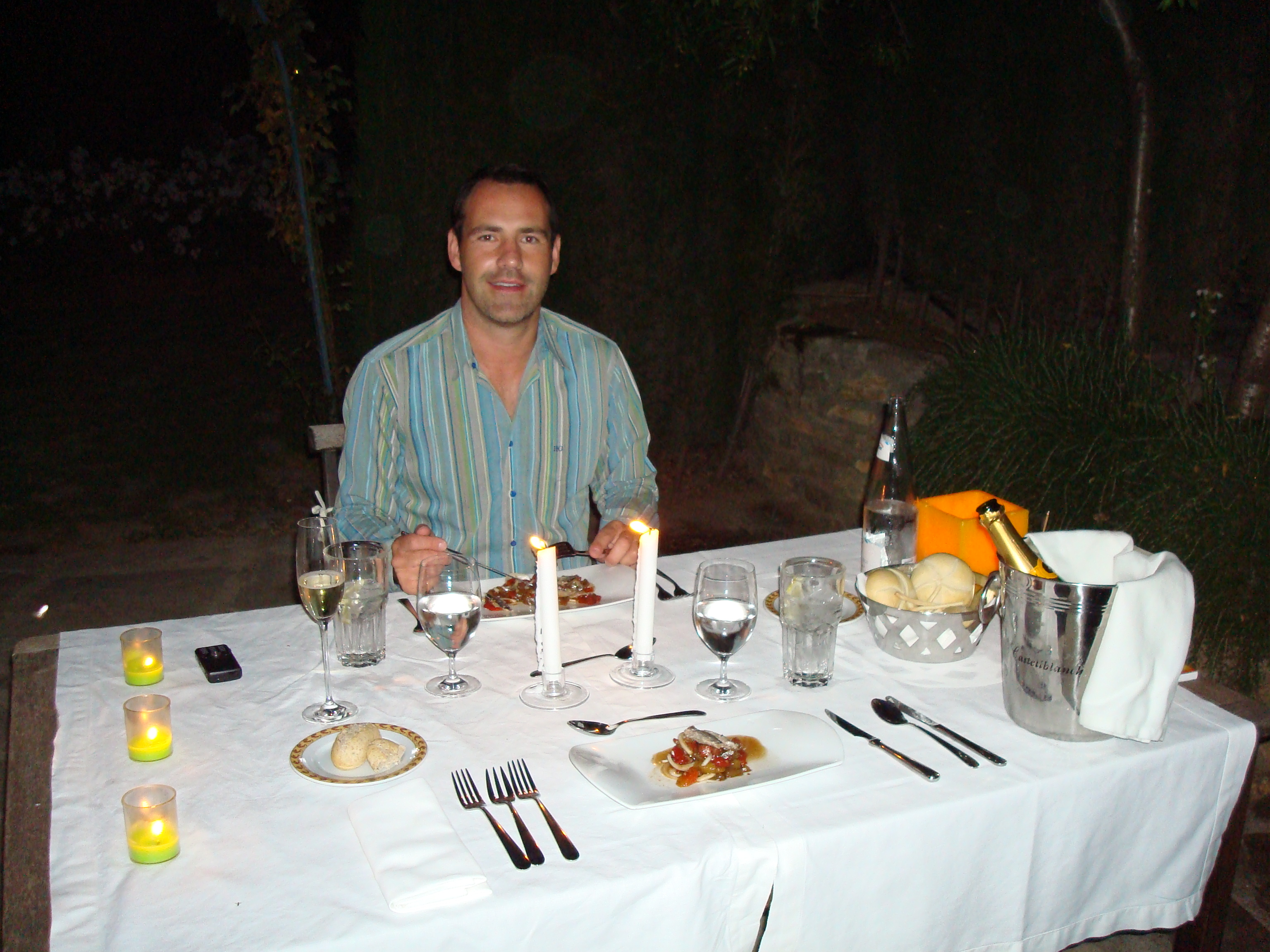 All about me and the food - private dining at El Juncal Hotel, Ronda