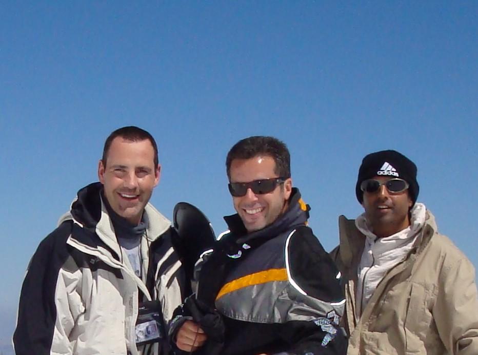 Andrew, Rafa & Umesh Sierra nevada..