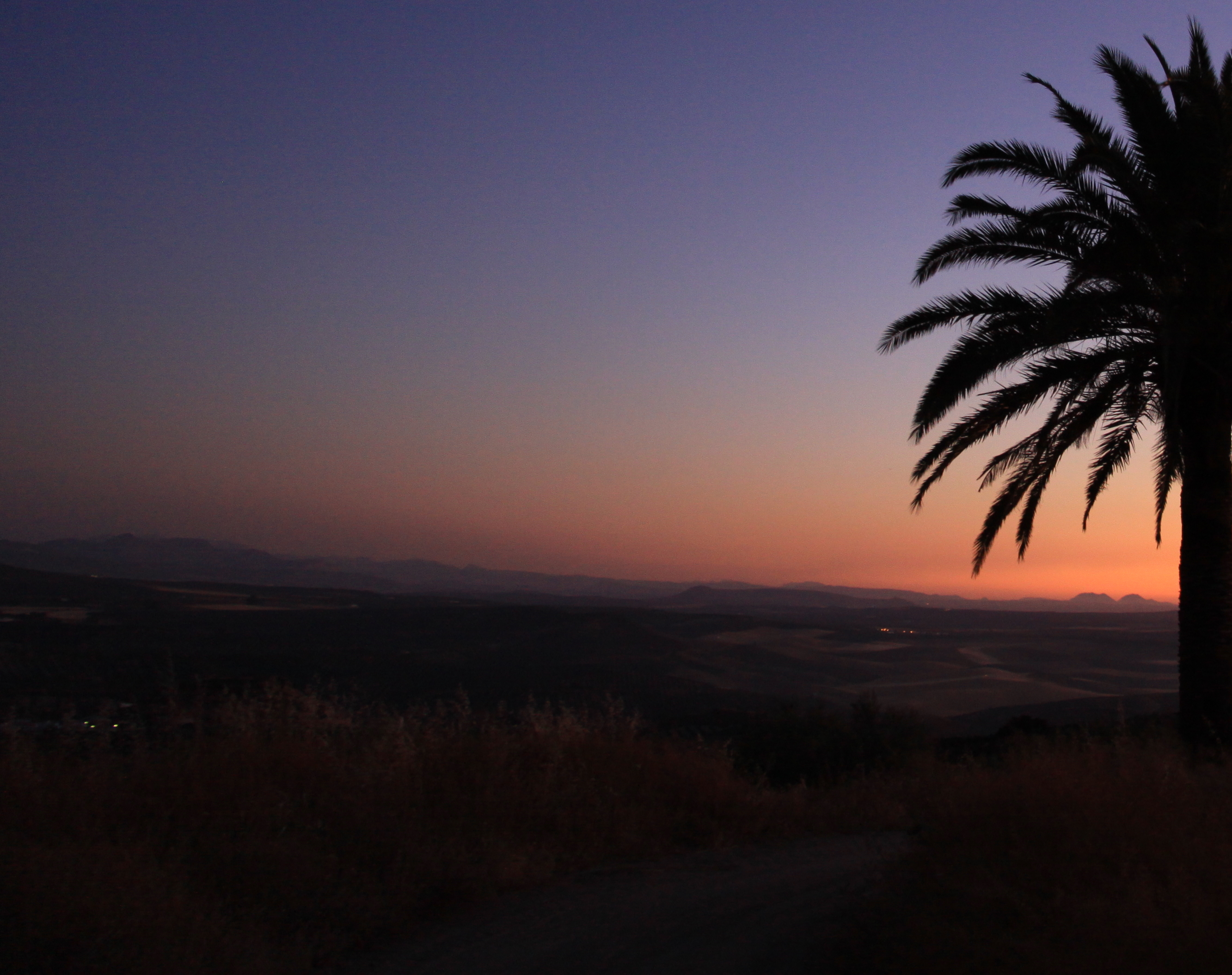 Sunset from one of the trails adventure sports spain www.andrewforbes.com