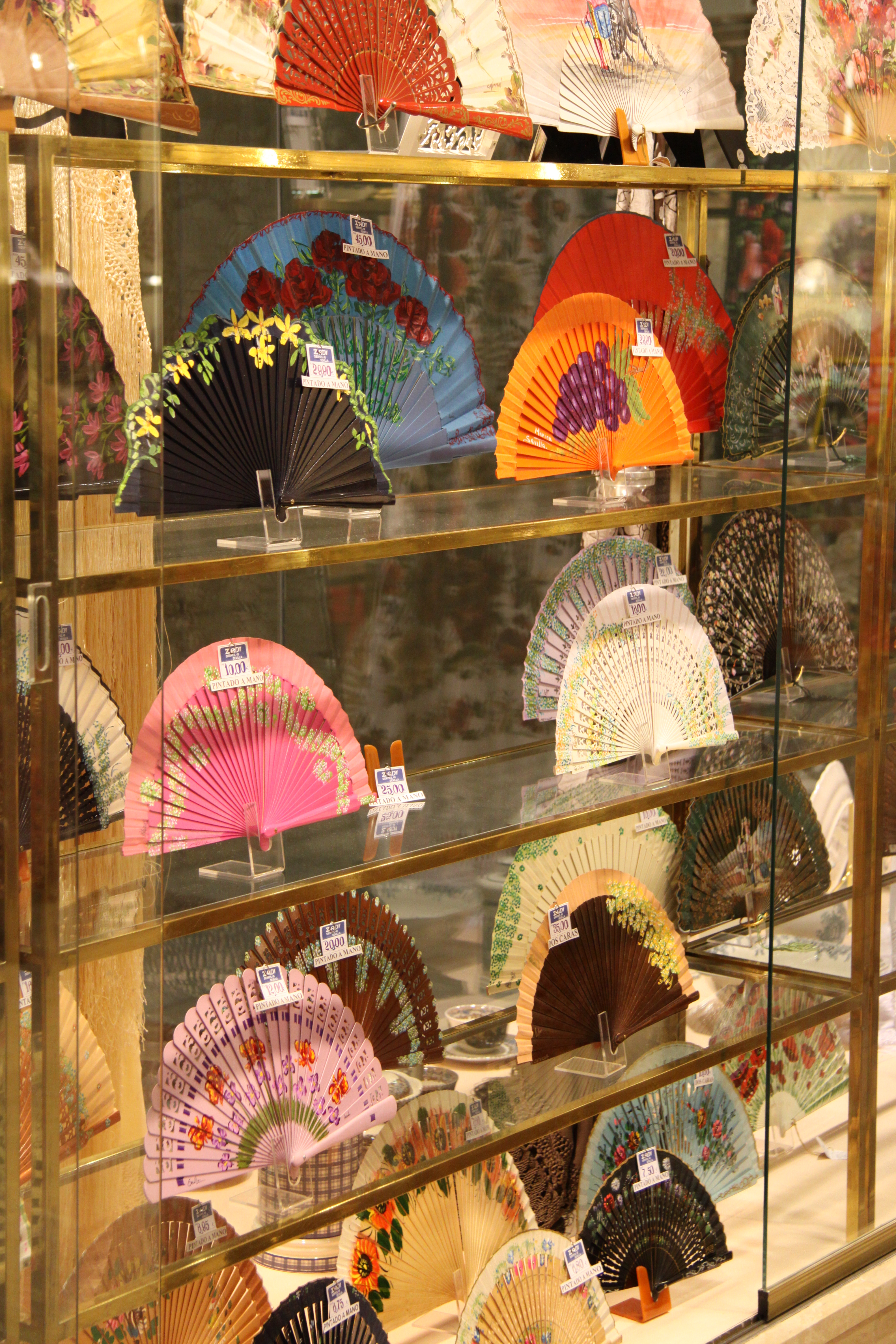 Traditional Spanish Fans in Seville Shop www.andrewforbes.com