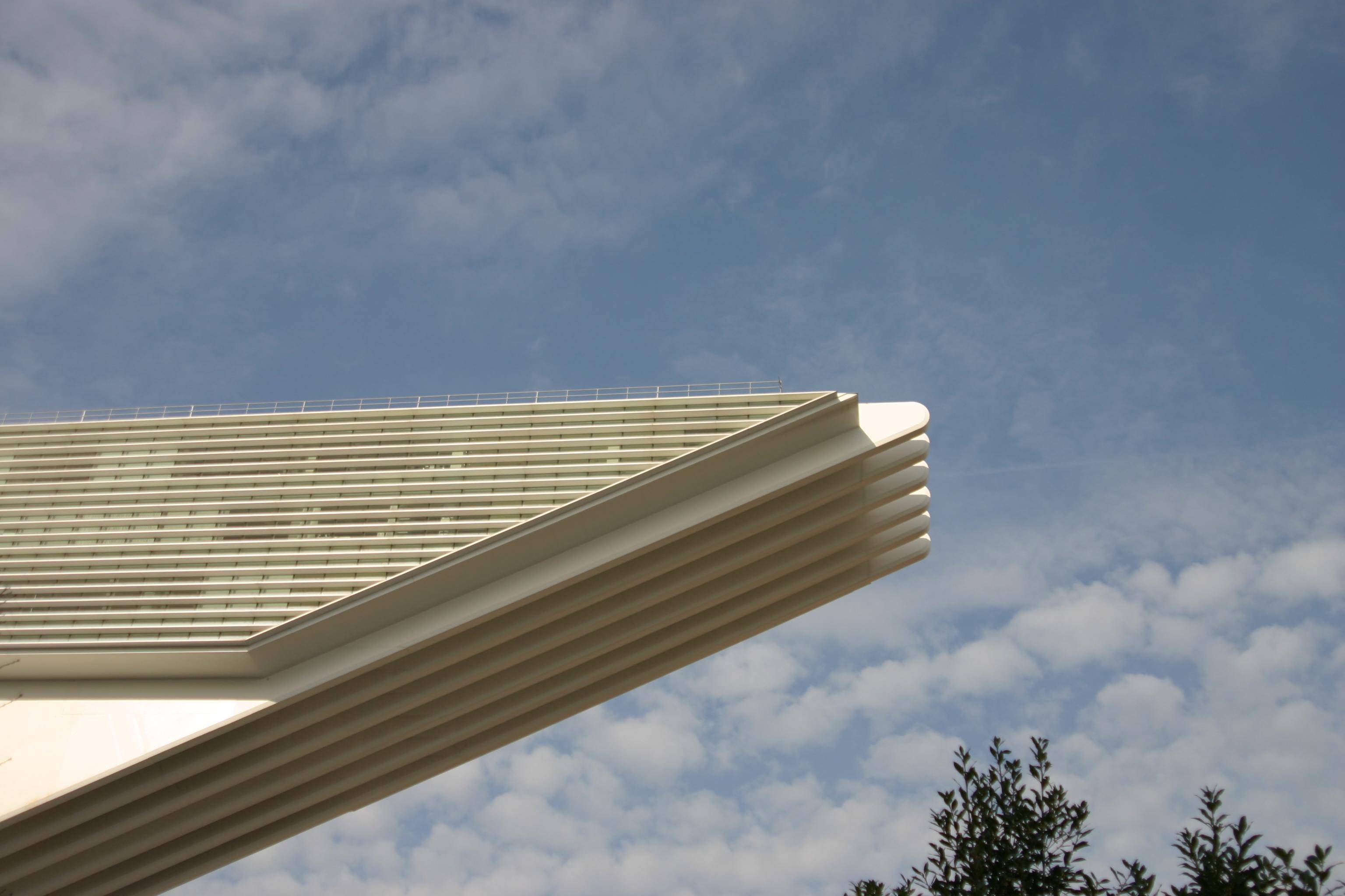 Striking Calatrava Conference Centre nearby