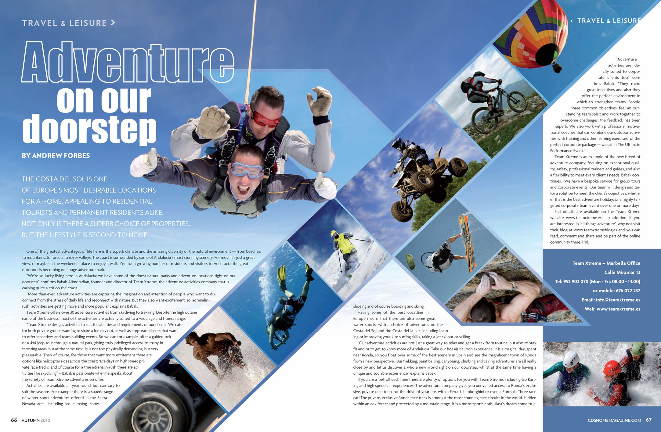 Adventure activities in Andalucia by Andrew Forbes