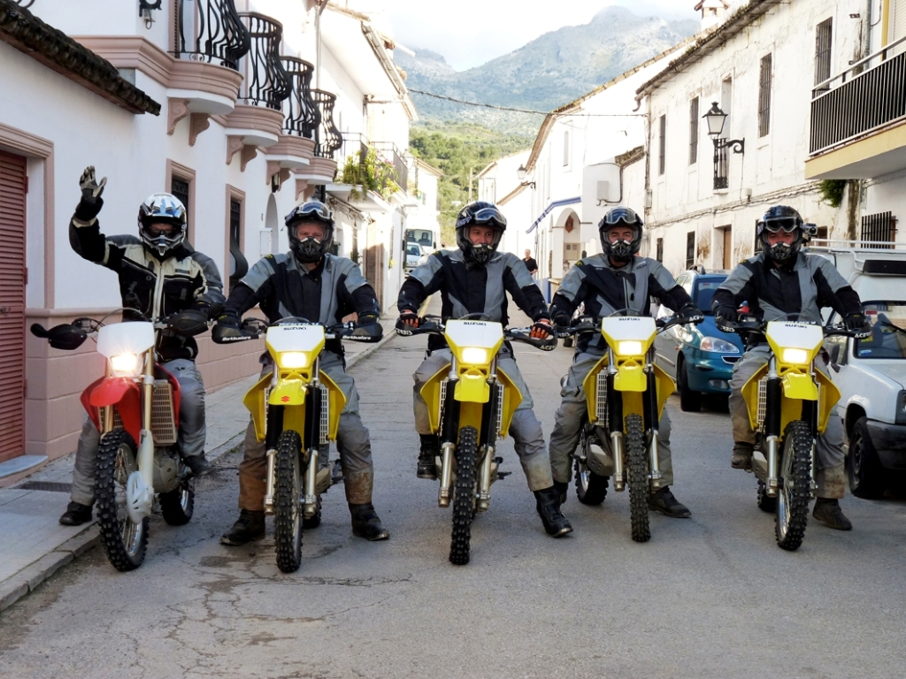Riders of the Lost Trail dirt bike guided off road motorcyle tours group Cortes de la Frontera LR