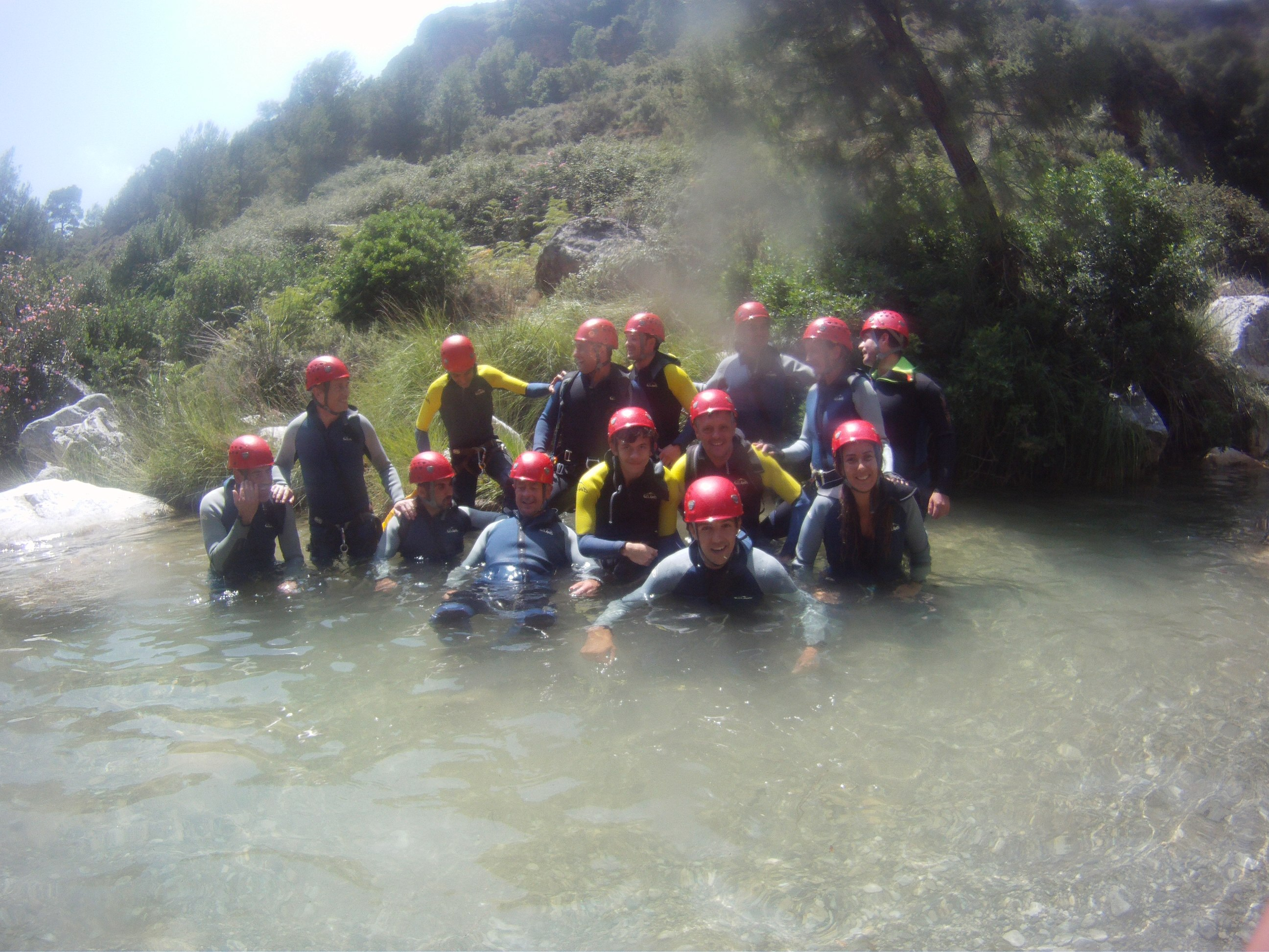 Before we set off Canyoning on rio verde
