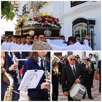 Semana santa tolox sierra de las nieves Easter Sunday parade marching band 2