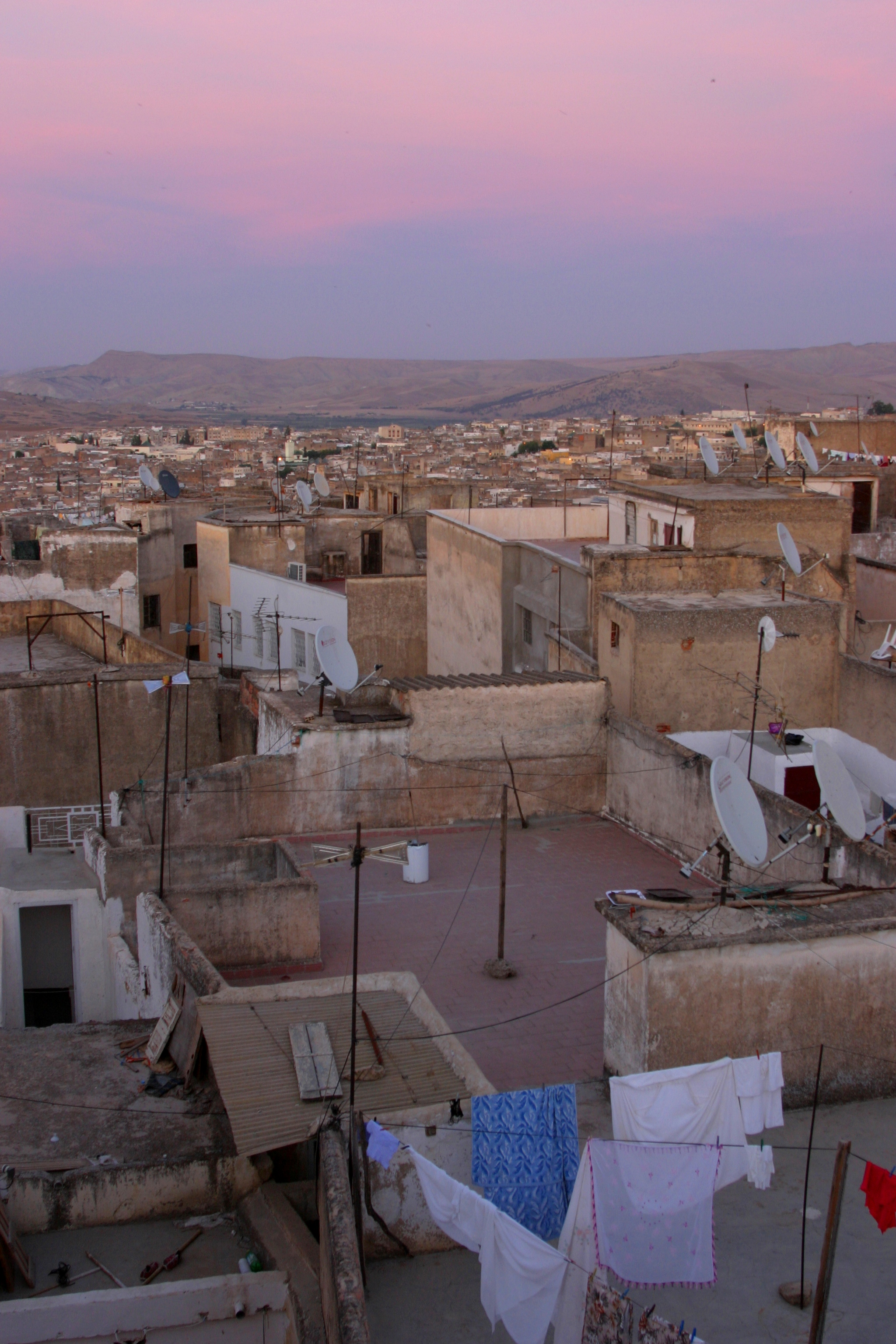 Fez_sunset_rooftops