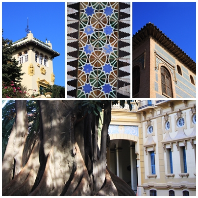 Paseo Sancha Malaga Historic 19th century architecture details andalucia spain andrew forbes