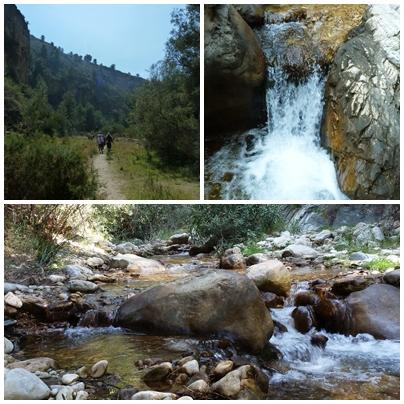 De Cotta Law St Patrick's Day Sponsored Walk Rio Chillar Frigiliana to Nerja water