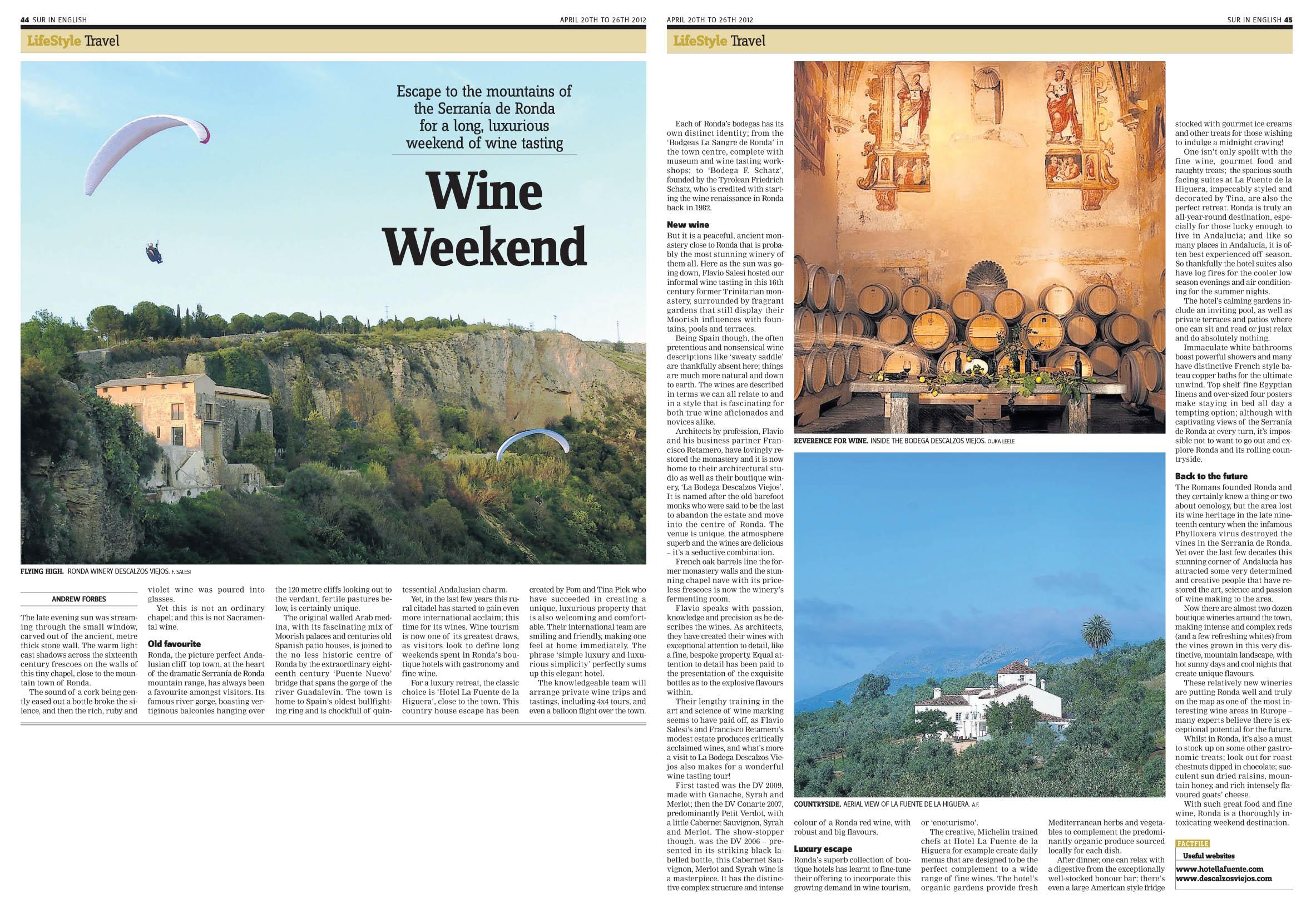 Luxury Ronda Wine Tasting Weekend Andrew Forbes