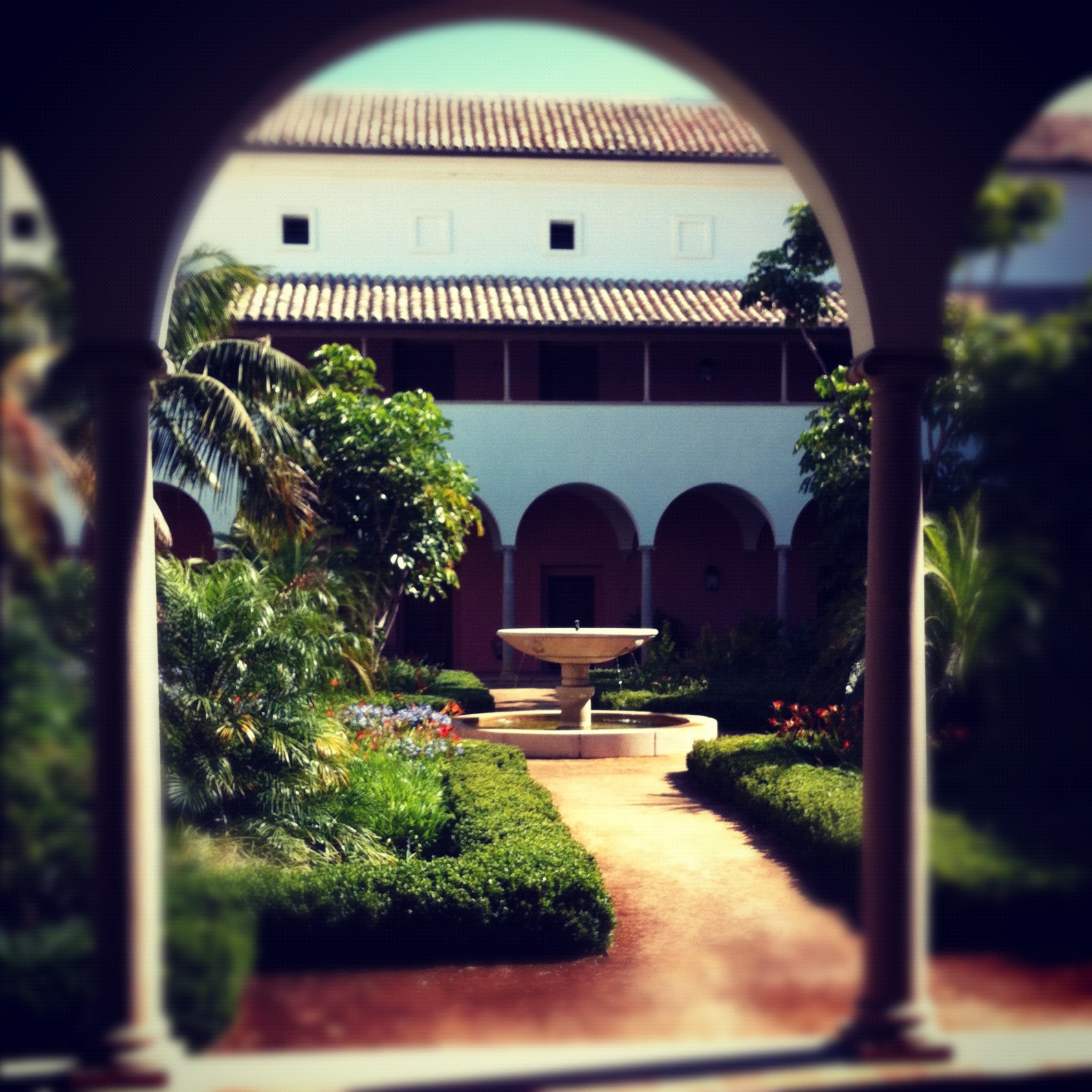 The Courtyard at Finca Cortesin