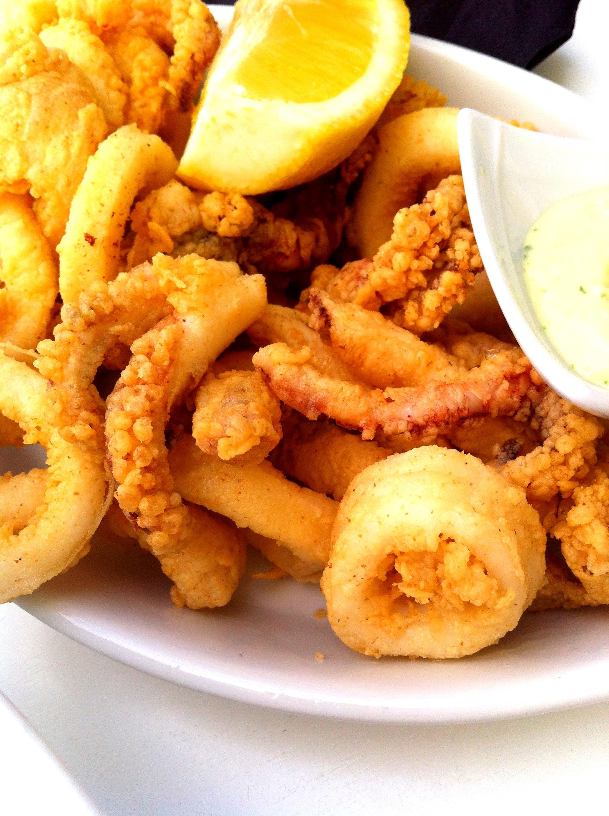 Calamari frito Southbeach Marbella andrew forbes
