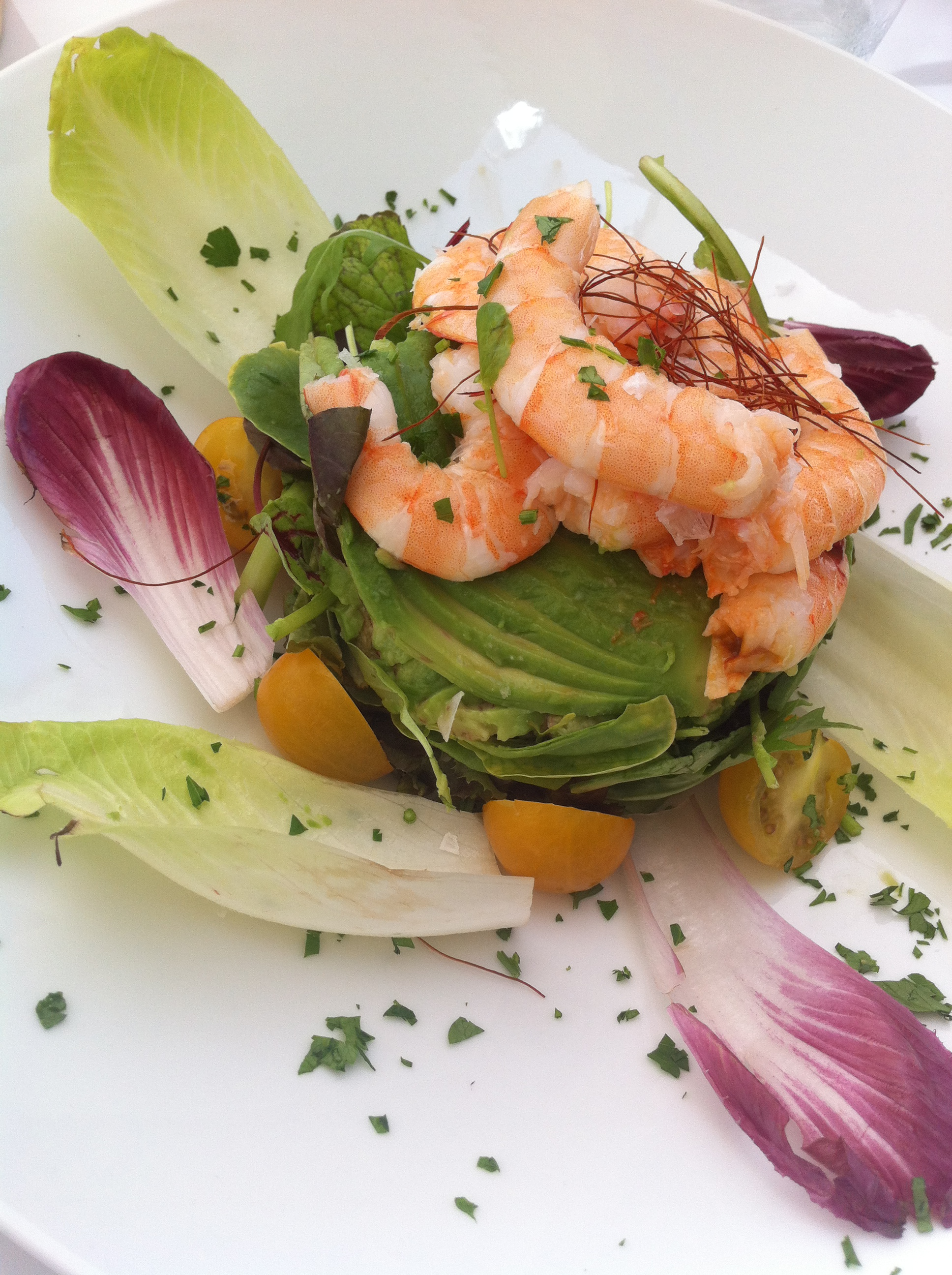 Prawn salad south beach marbella