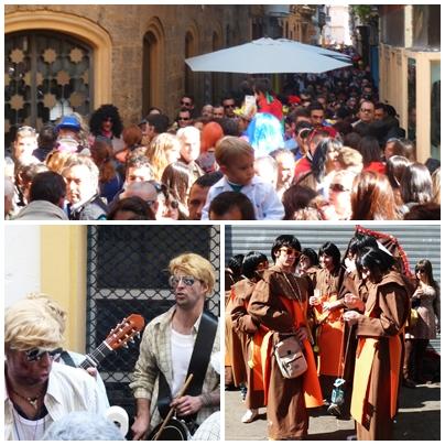 Cadiz carnival streets full