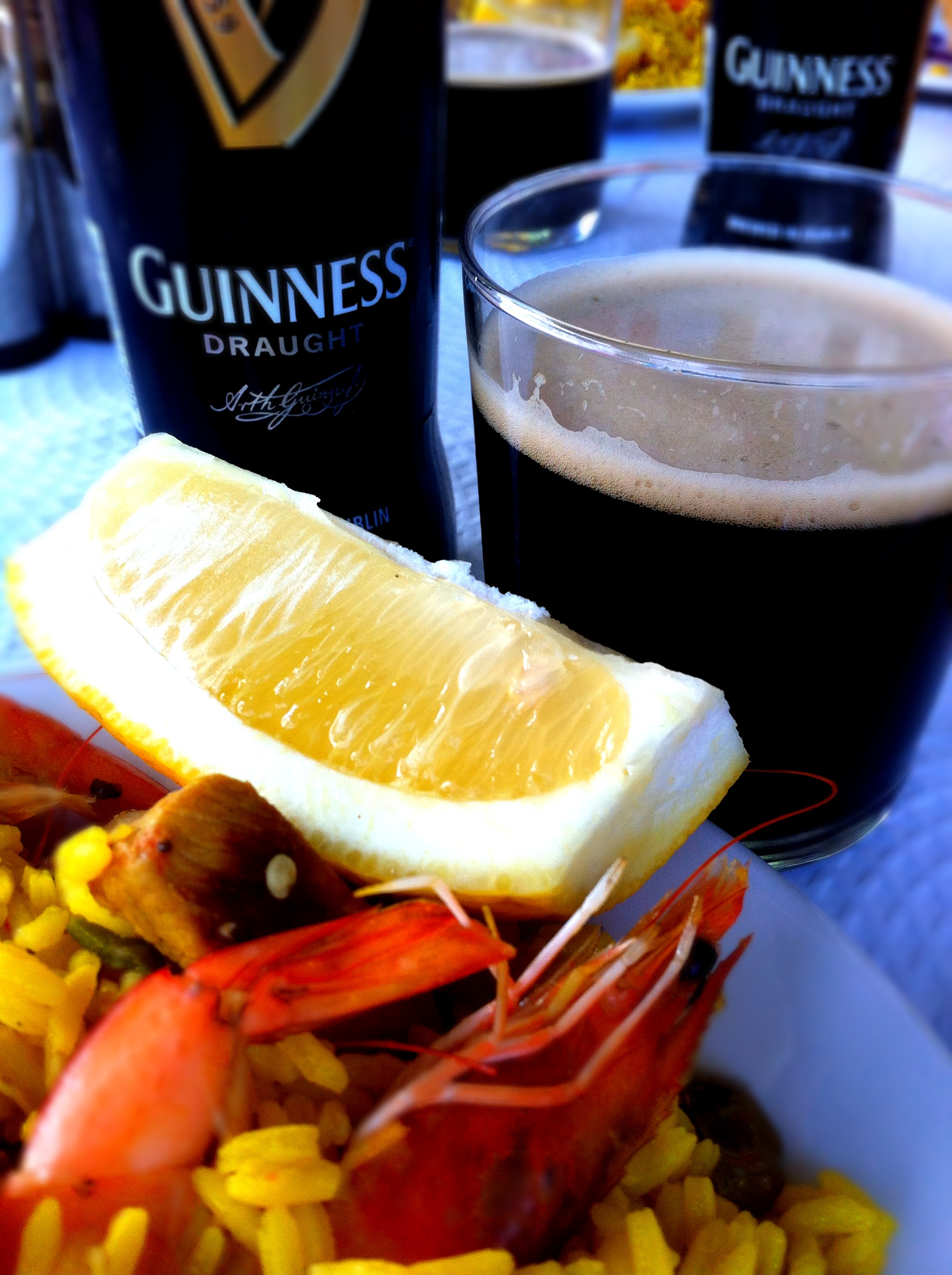 Paella and Guinness lunch St Patrick's Day Nerja andaluciadiary.com