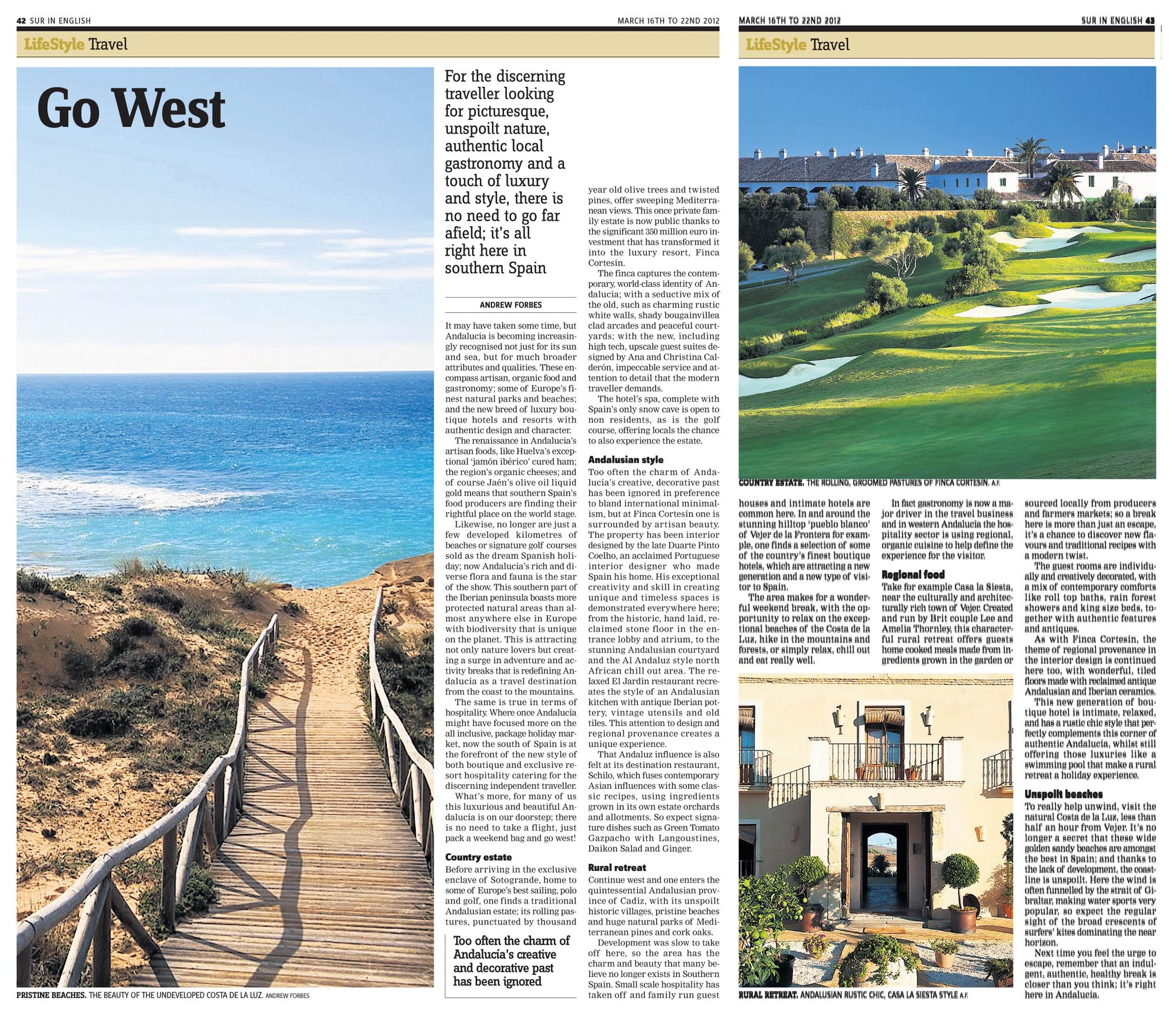 Western Andalucia Andrew Forbes Travel Writing in SUR in English 16 March 2012