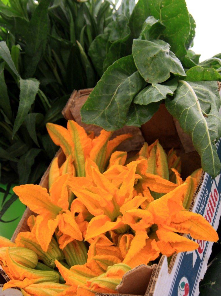 Transition Town Coin Malaga Natural Veg and Corgette Flowers from Finca La Calerita