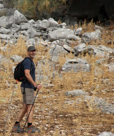 Andrew Forbes hiking in Grazalema, north west of Ronda